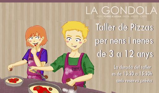 La góndola taller de pizzas para niños barcelona
