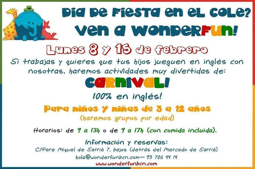 wonderfun english barcelona