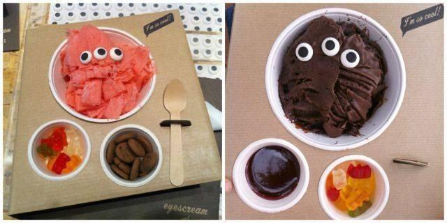 EYES CREAM. Una heladería muy original de Barcelona