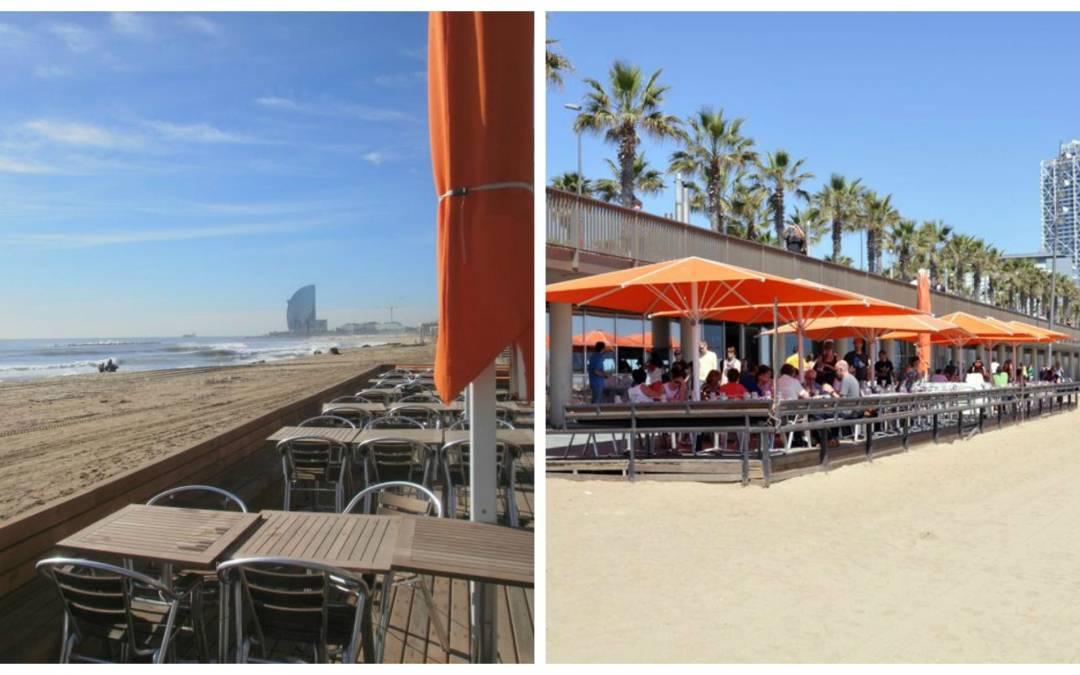 Sal Café. Una terraza en la playa.