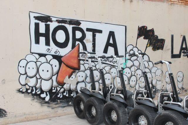 Horta con segway. Descubriendo la Barcelona menos turística