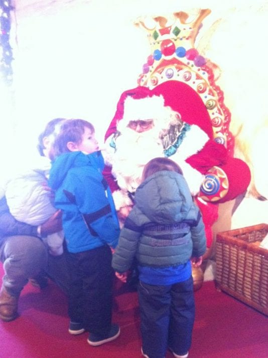 Visita a Papá Noel en Montreaux
