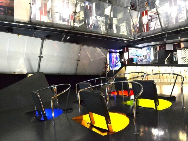 Museu_olimpic_Montjuic Barcelona_Colours zona multimedia