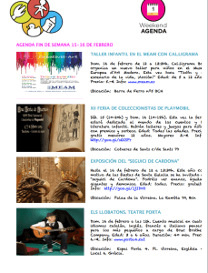 Agenda actividades con niños Barcelona febrero