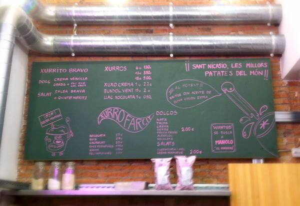 Chocolate con churros pastelería Canals