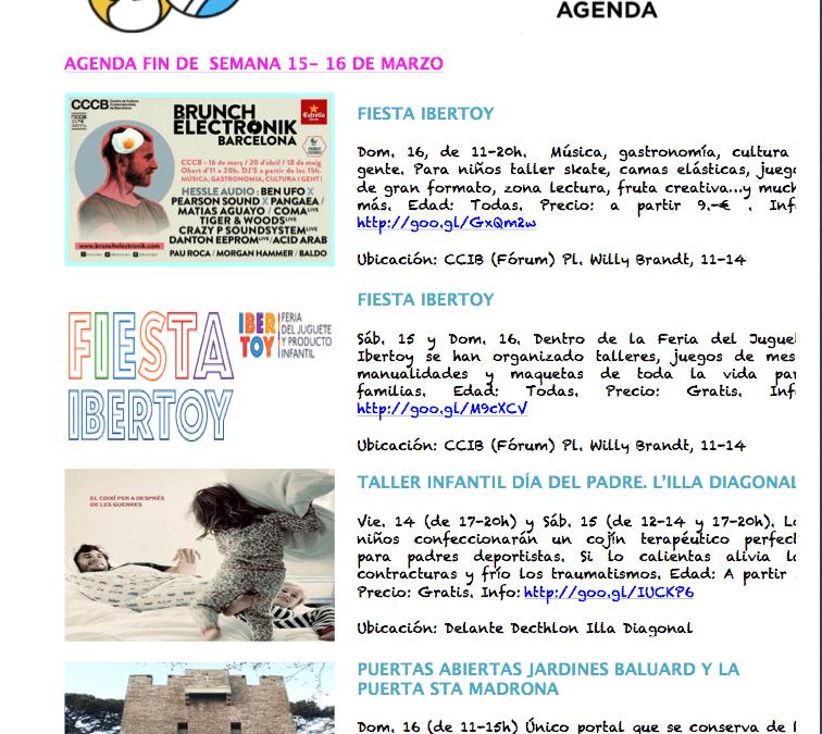 AGENDA 15-16 DE MARZO