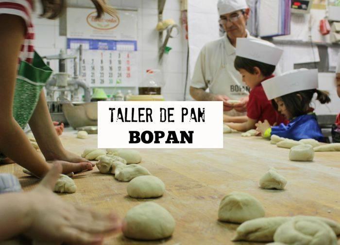 Taller de pan para niños en Bopan