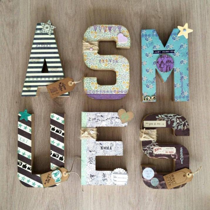 Letras de madera para decorar habitaciones infantiles - Habitaciones infantiles decoradas ...
