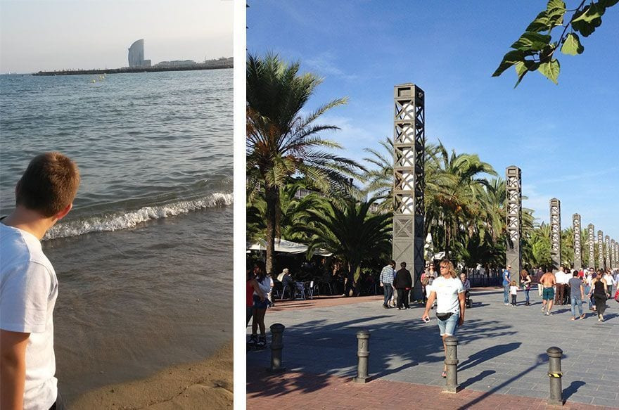 paseo playa barcelona