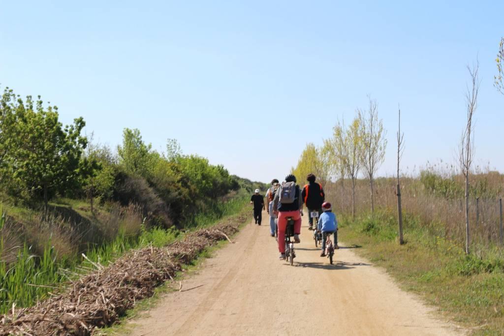 bici con niños prat de llobregat
