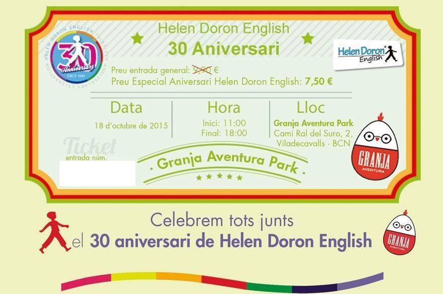 Fiesta 30 aniversario Helen Doron en Granja Aventura Park