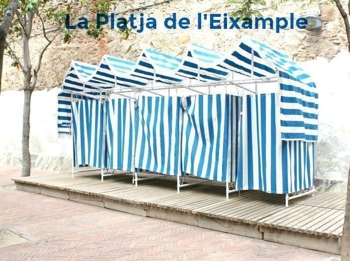 La «playa» de l'Eixample