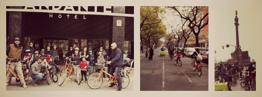 Child-friendly bike tour in Barcelona