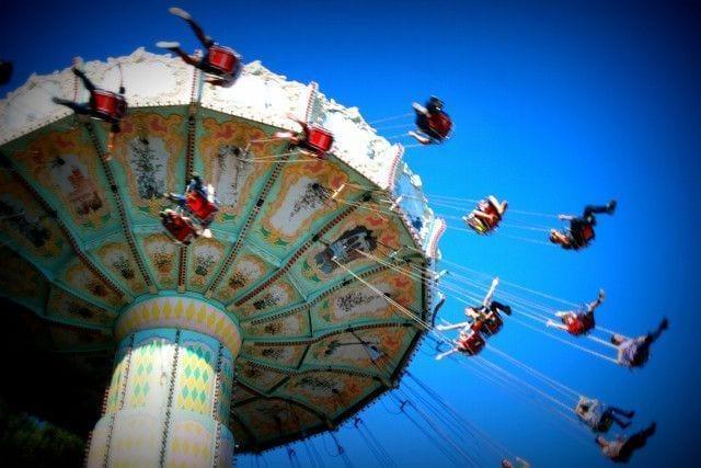 Tibidabo amusement Park in Barcelona