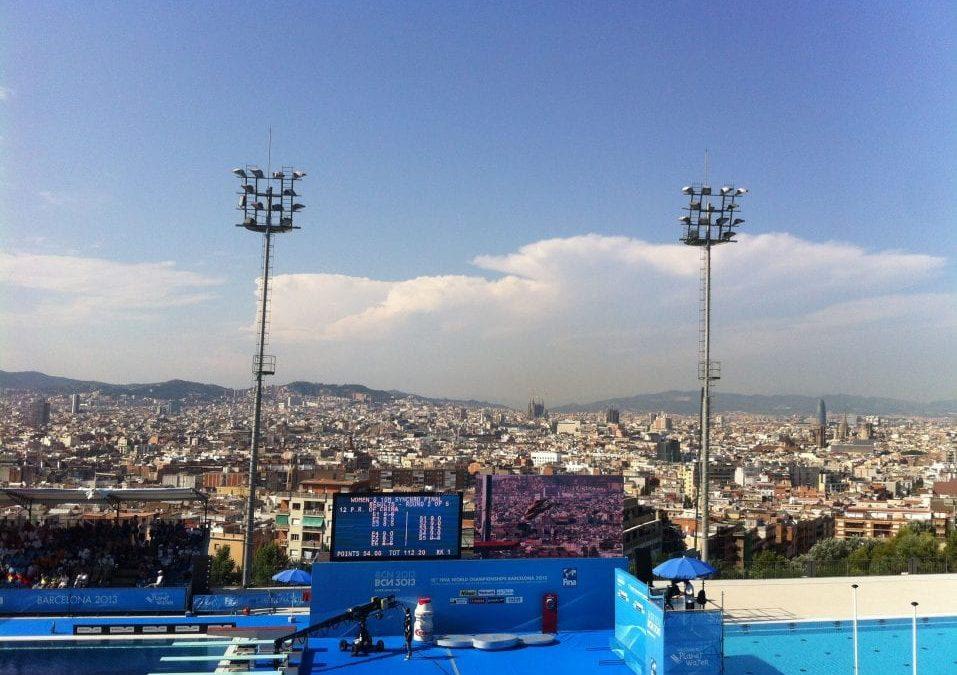 Piscina Municipal de Montjuïc. Un salto con vistas de pájaro.