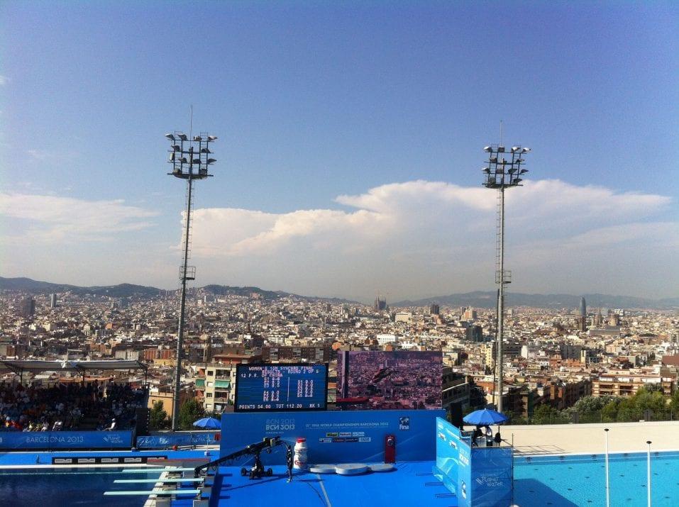 Piscinas Montjuïc Mundial Natación Barcelona