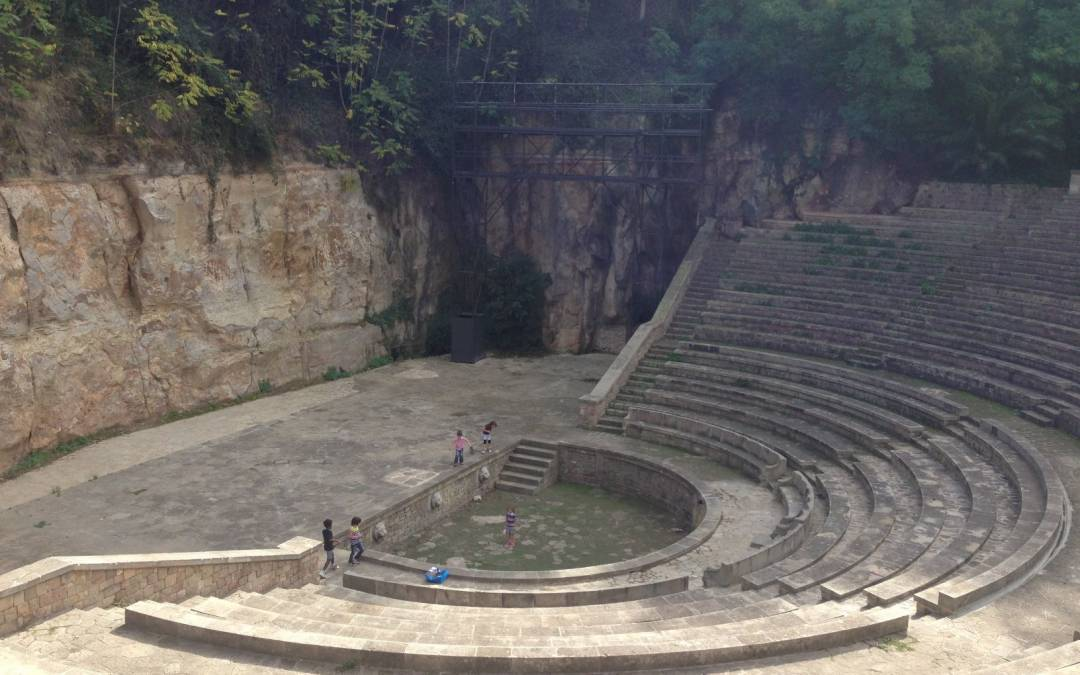 Picnic at the gardens of the Grec theatre