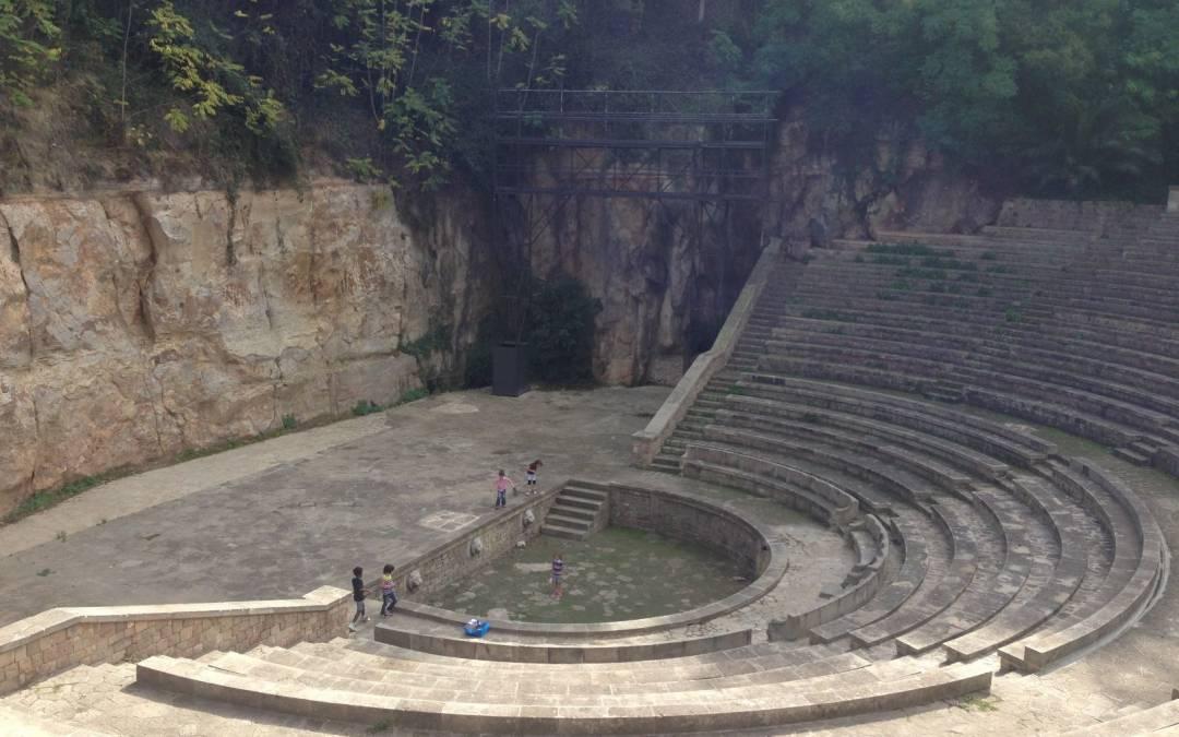 Picnic en los jardines del Grec