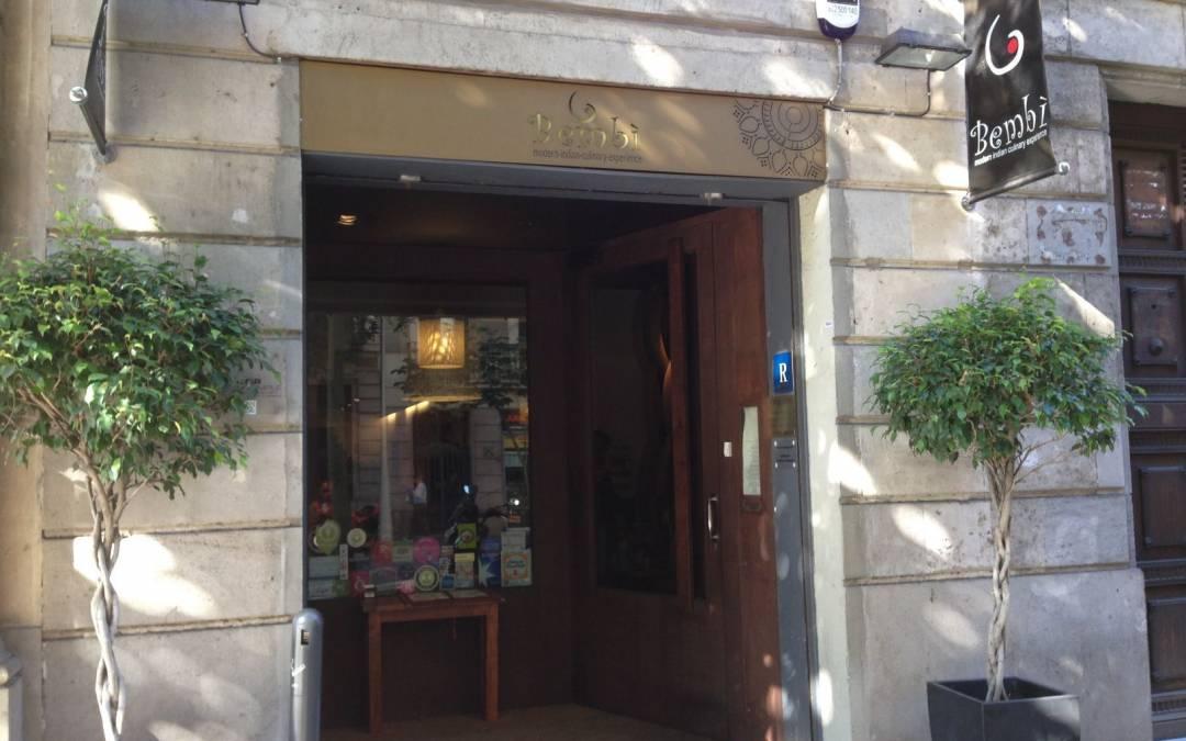 Restaurante hindú Bembi, cocina india moderna en Barcelona.