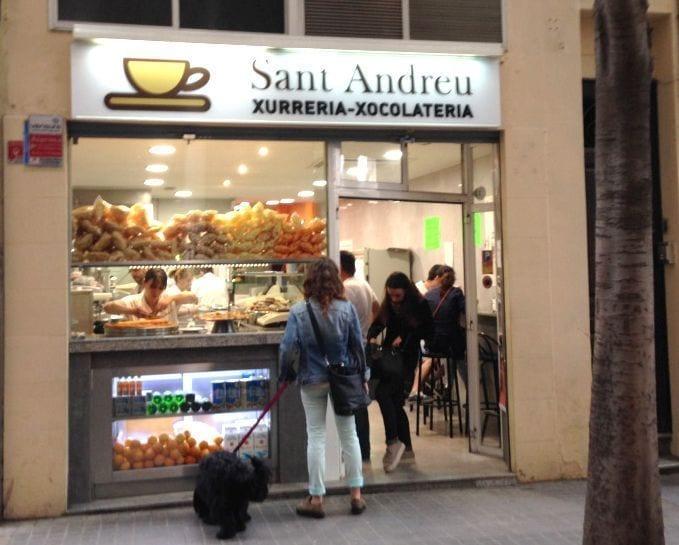 chocolate con churros sant andreu barcelona