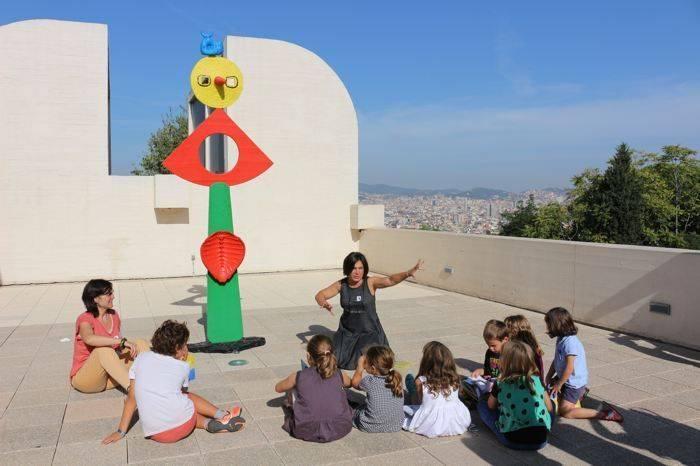 Fundació Miró y sus actividades infantiles.