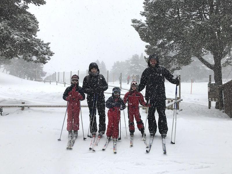 invierno en andorra con niños