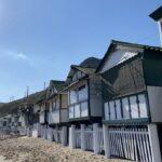 La platja del Garraf i el Restaurant la Cúpula