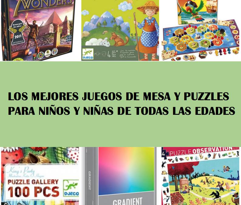 Los mejores juegos de mesa y puzzles para niños y niñas